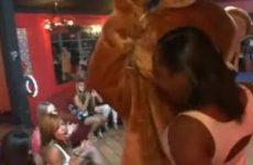 Pijpende meiden op een sex party